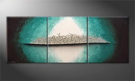 Obraz do salonu 'Silver Breeze' 180x70cm