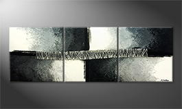 Obraz do salonu 'Silver Road' 210x70cm