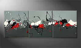 Obraz do salonu 'Splashed Contrast' 180x70cm