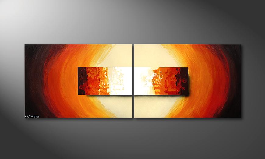 Aboil Fire 210x70x2cm Obraz