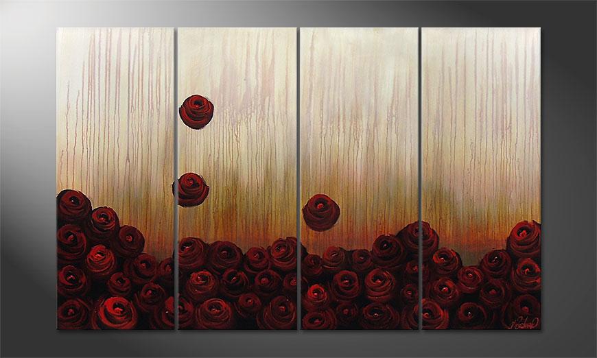 Bed of Roses 160x100x2cm Obraz