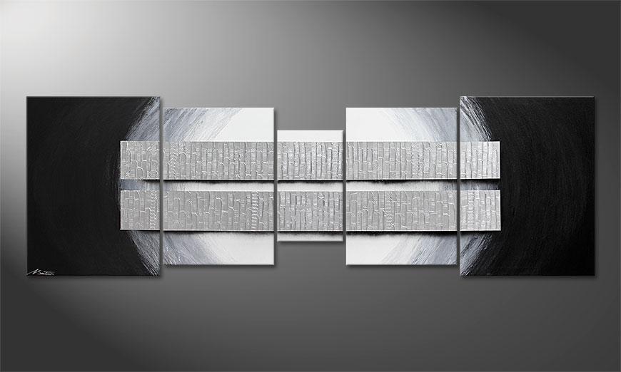 Blocs of Silver 250x80x2cm Obraz-XXL