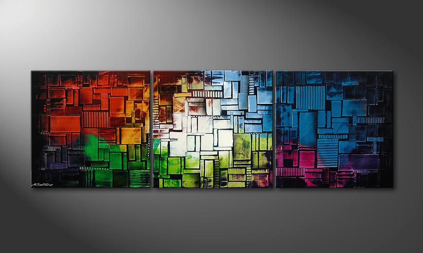 Color Cubes210x70x2cm Obraz