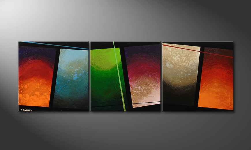 Color Wave 210x70 Obraz