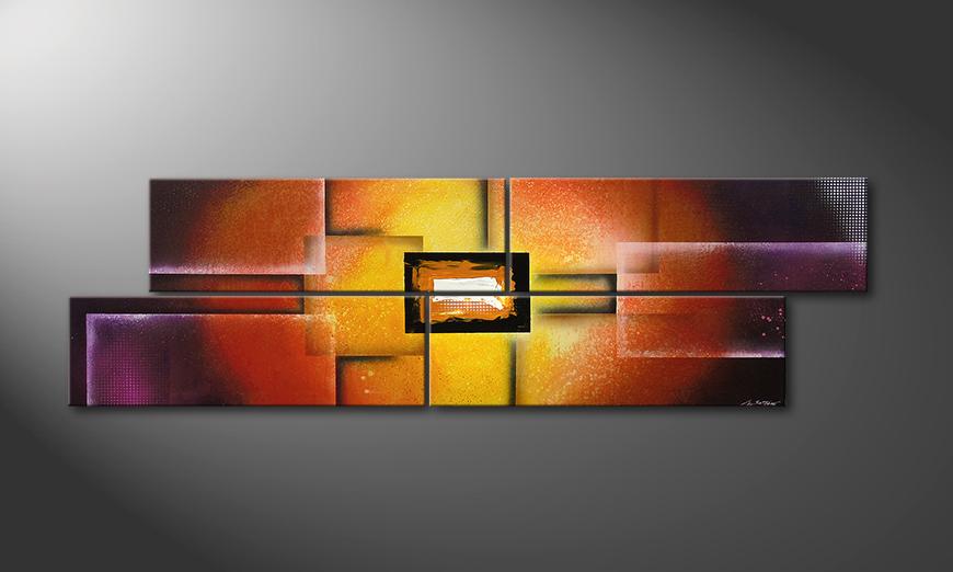 Colors of Heat 200x60x2cm Obraz