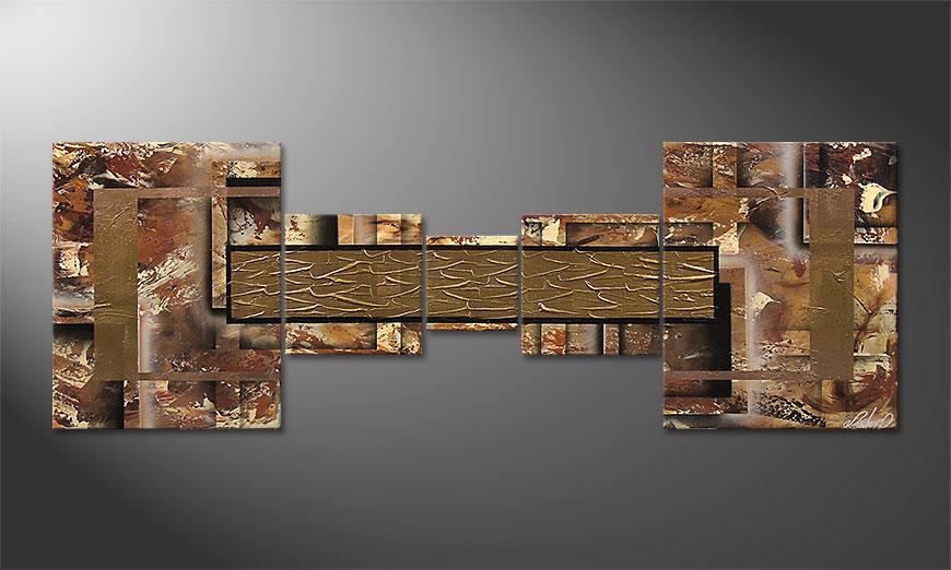 Golden Treasure 180x60x2cm  Obraz