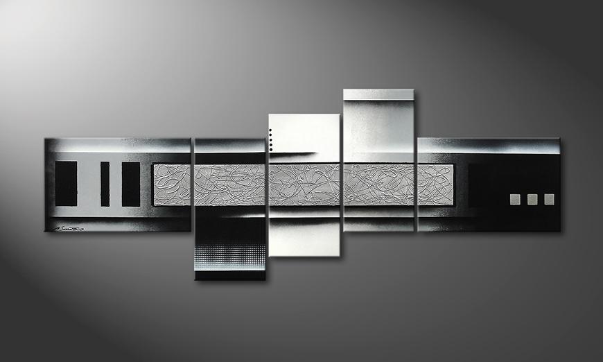 Grey and Black 210x80x2cm Obrazy