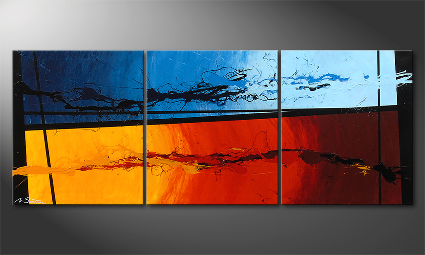 Hot and Cold 150x60x2cm Obraz