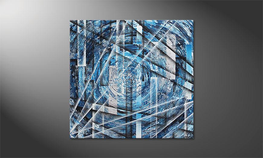 Inner Ice 100x100x2cm Obraz