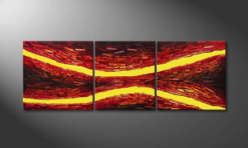 Lava Splits 200x70x2cm Obraz