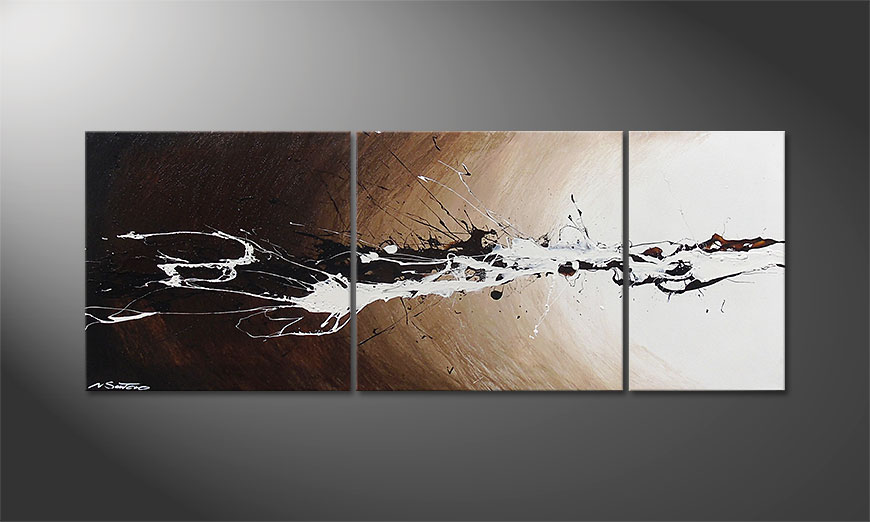 Light Eruption 130x50x2cm Obraz