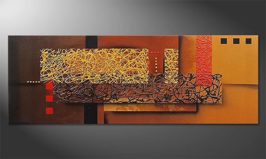 Liquid Gold in 150x55x2cm Obraz