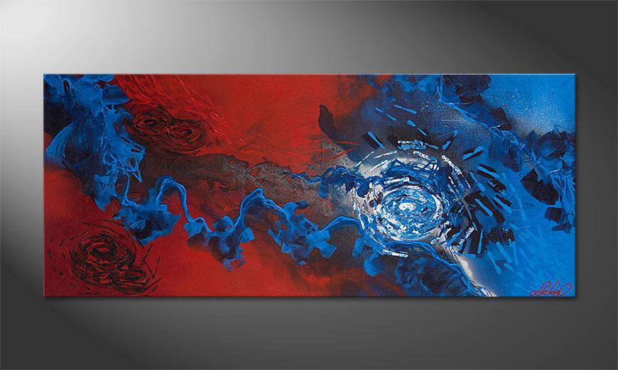 Obraz Frozen Rose 140x60x2cm