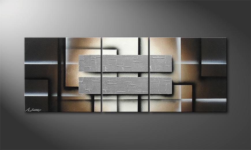 Obraz do salonu Silver Shine 130x50x2cm