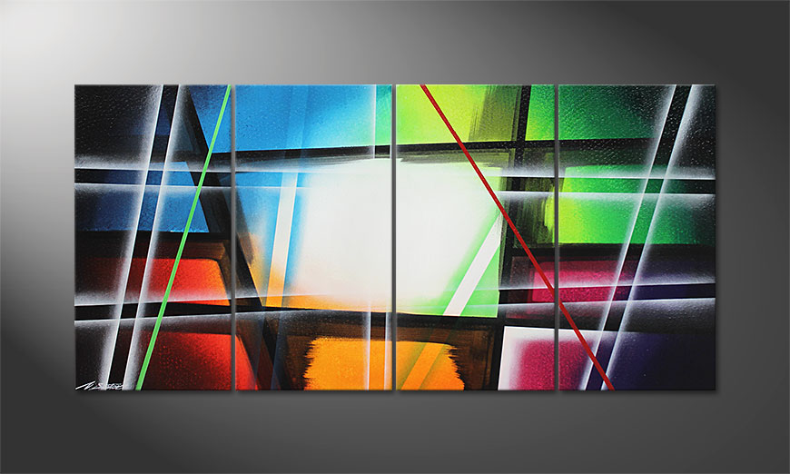 Prisma 160x80x2cm Obraz