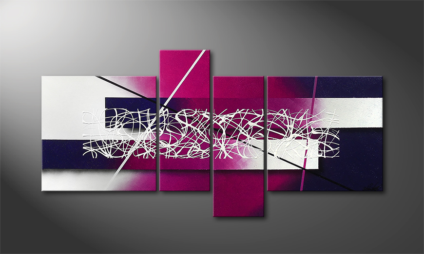 Purple Lights 130x65x2cm Obraz
