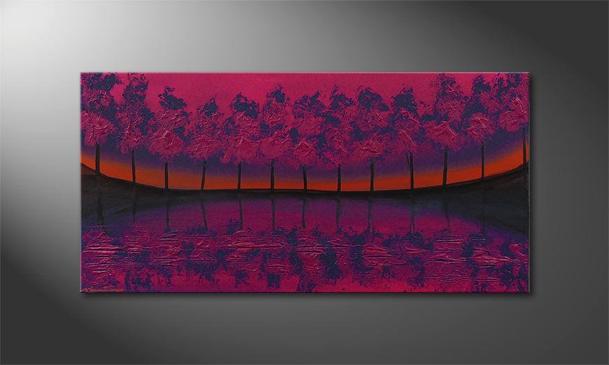Purple Tree 120x60x2cm Obraz