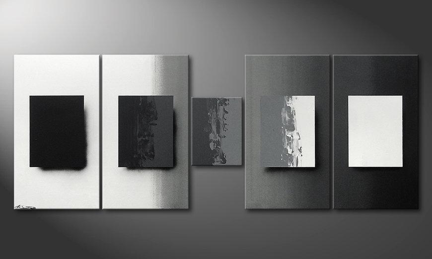 Shades of Grey 230x90x2cm Obraz
