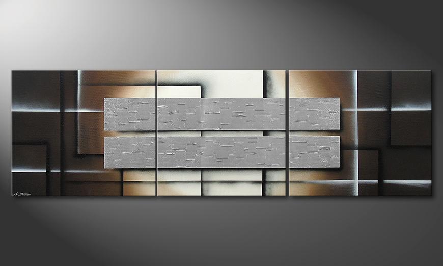 Shine of Silver in 260x80x2cm Obraz