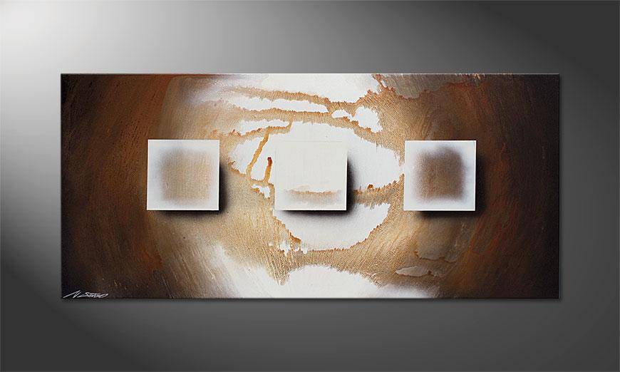 Shinning Cubes 130x60x2cm Obraz