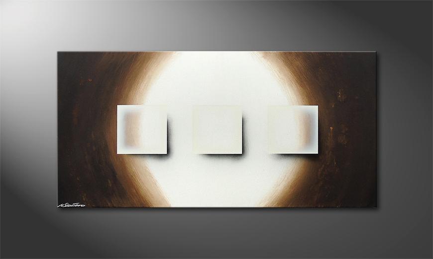 Shiny Cubes 120x60x2cm Obraz