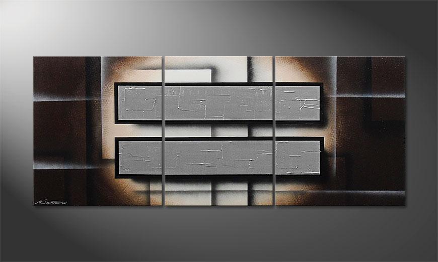 Silver Mirrors 170x70x2cm Obraz