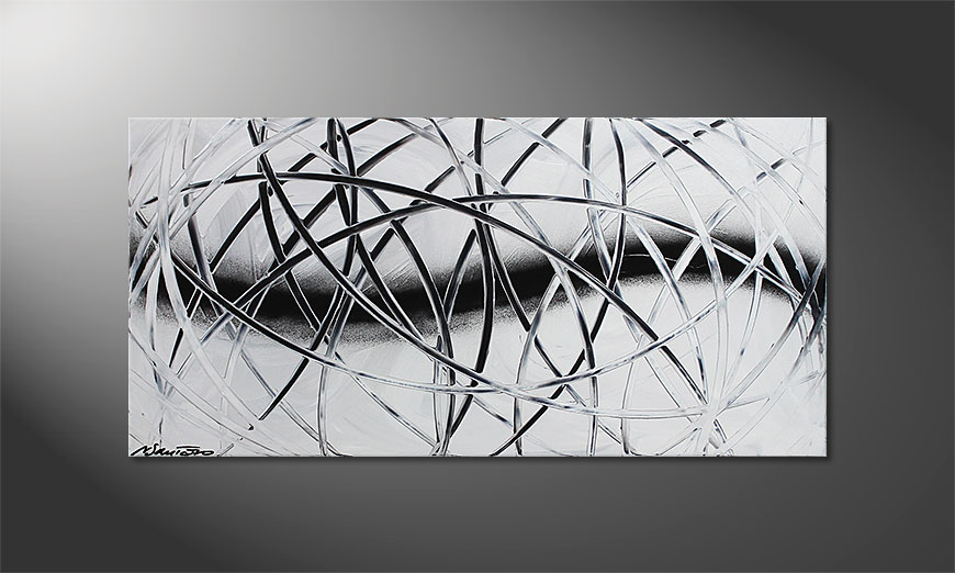 Snow Traces 100x50x2cm Obraz