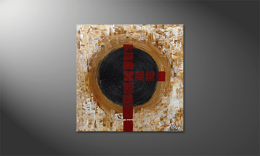 Squaring the Circle 80x80x2cm Obraz
