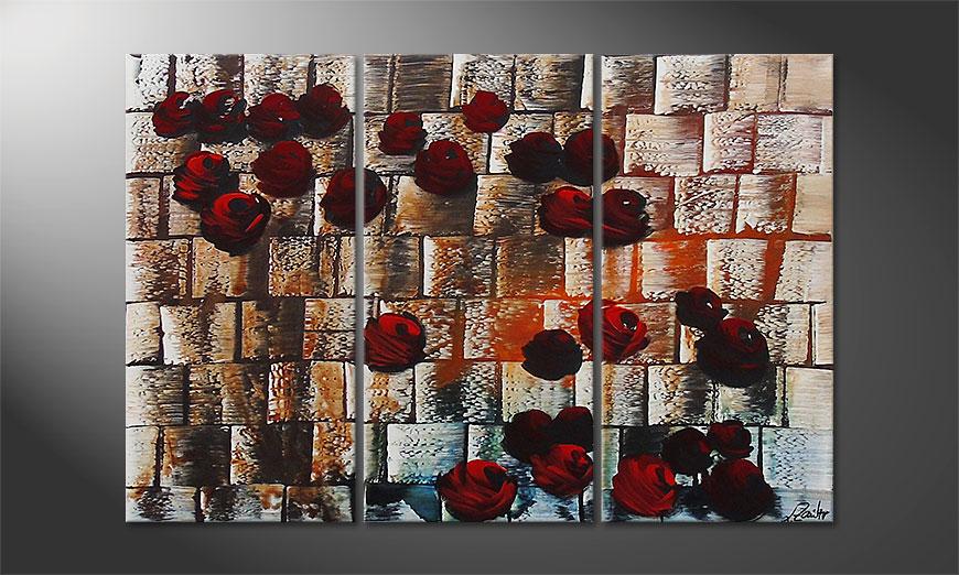 Storm of Roses 120x80x2cm Obraz