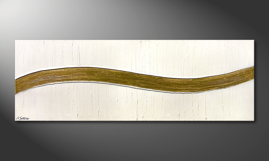 Swinging Gold 180x60x2cm Obraz