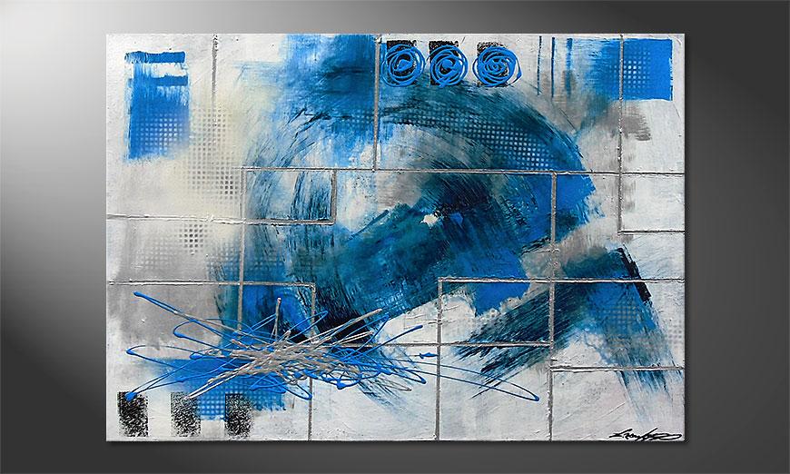 Water Signs 100x70x2cm Obraz