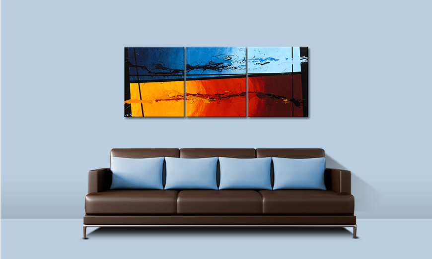 Hot and Cold 150x60cm Obraz