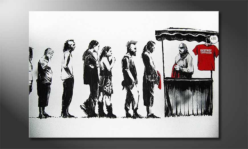 Banksy No6 Obraz