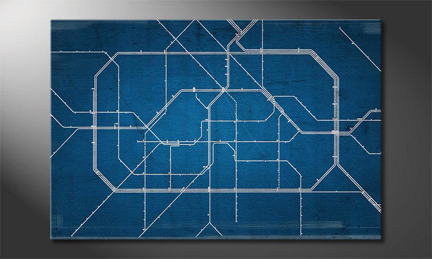 Berlin Metro Obraz