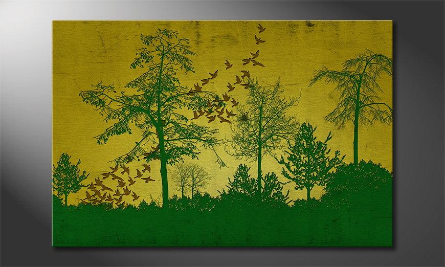 Birds in Forest Obraz