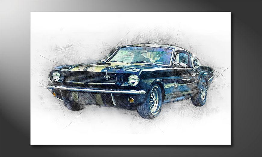 Black Mustang Obraz