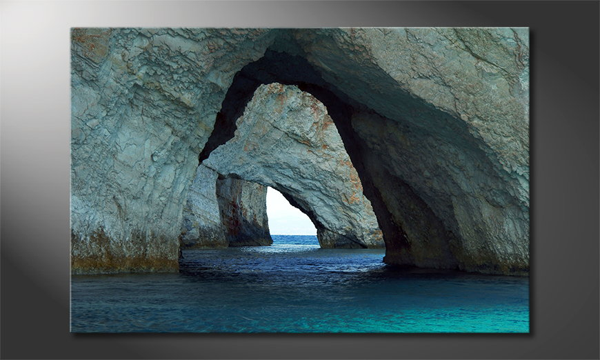 Blue Caves Obraz
