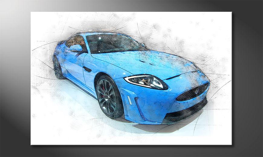 Blue Jag Obraz