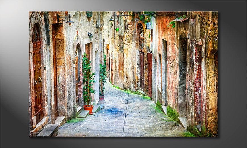 Charming Alley Obraz