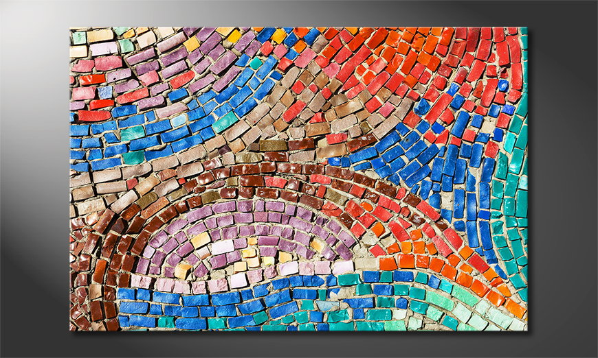 Colorful Mosaic Obraz