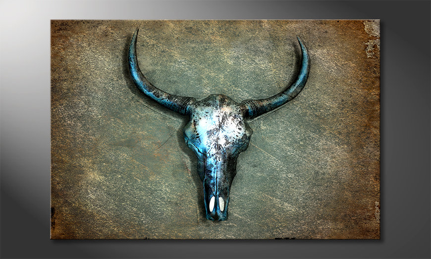 Druk na p?ótnie Buffalo Skull