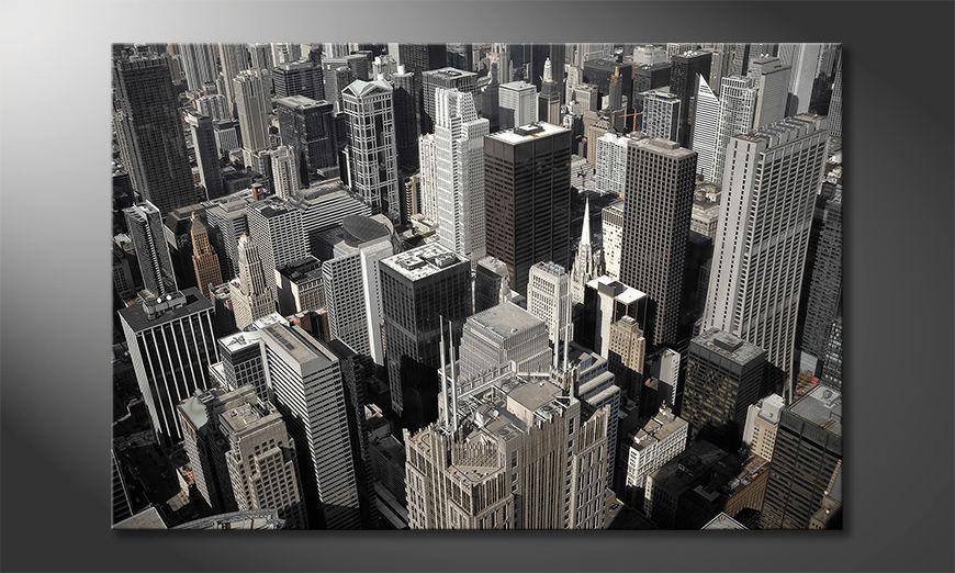 Druk na p?ótnie City of Chicago