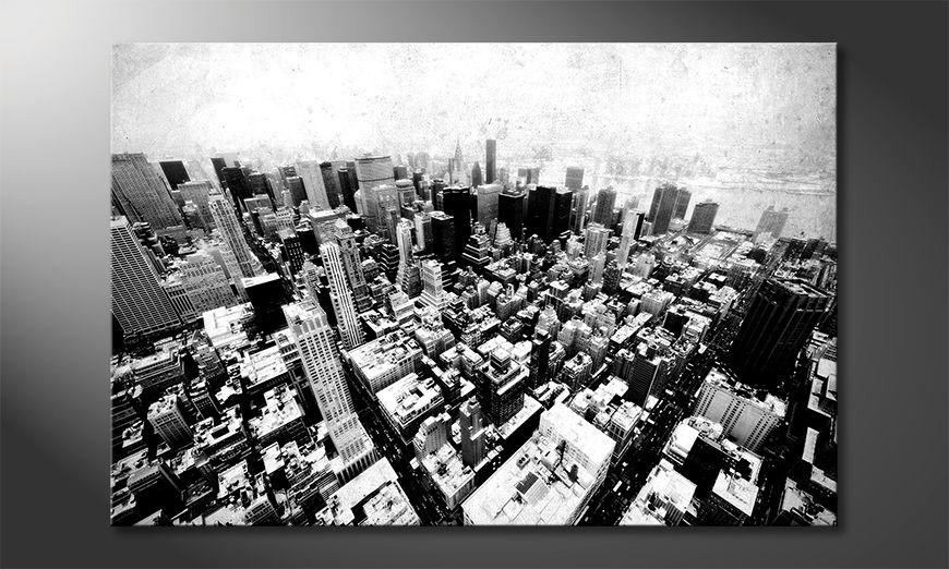 Druk na p?ótnie New York Vintage