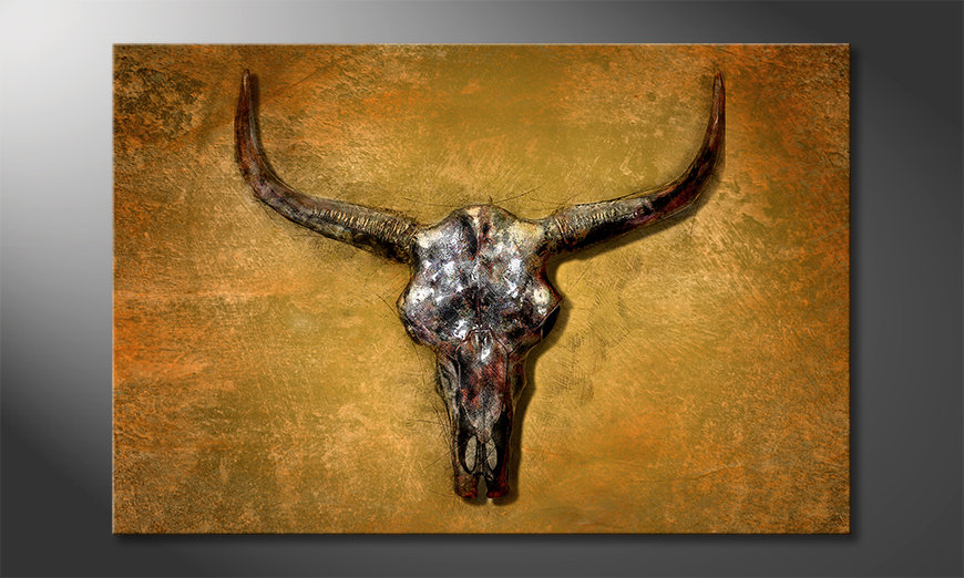 Druk na p?ótnie Texas Buffalo