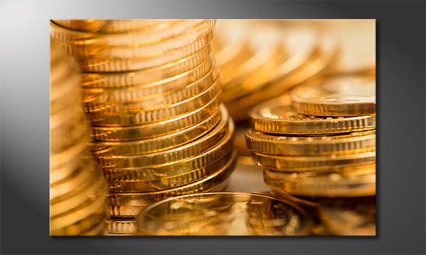 Gold Coins Obraz