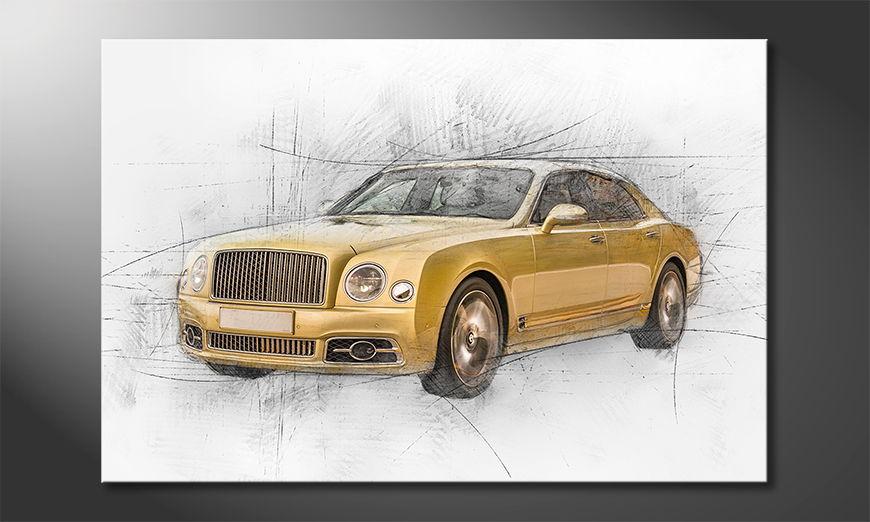 Golden Elegance Obraz