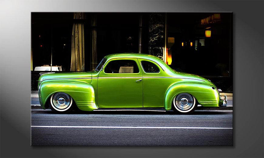 Green Car obrazy na płótnie