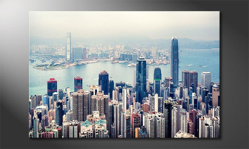 Hongkong Skyline Obraz