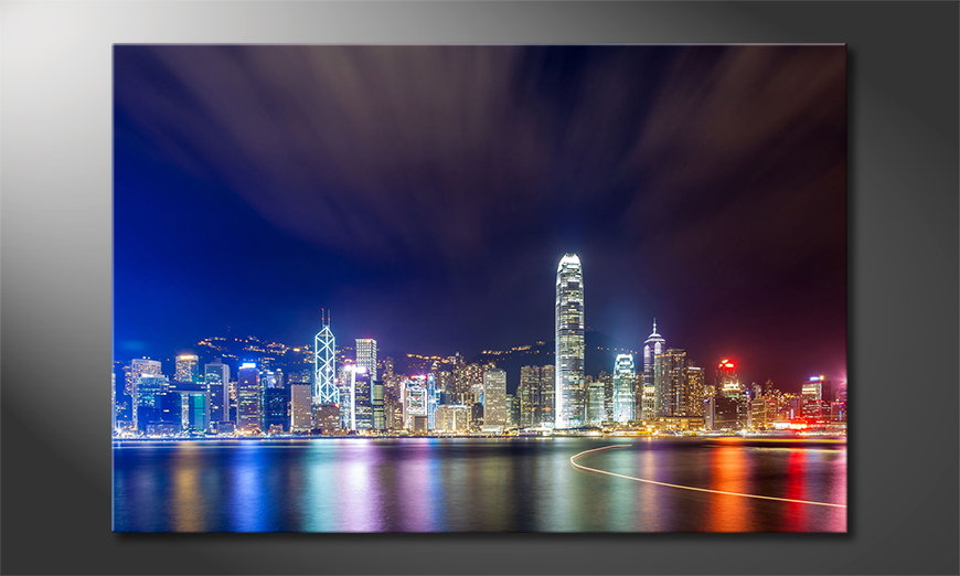 Hongkong at Night Obraz