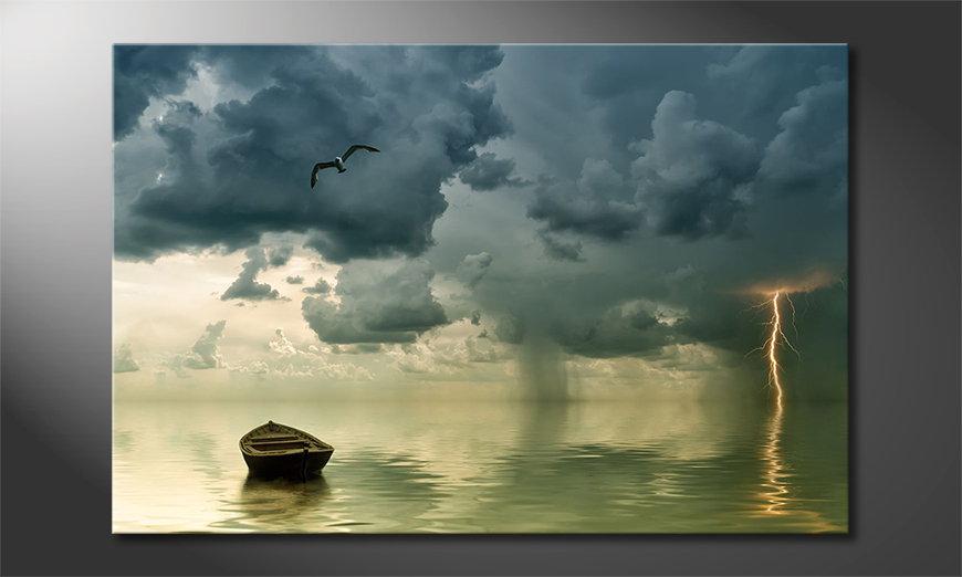 Lonely Boat Obraz